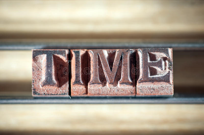 Download Time stock image. Image of font, grunge, printing, letterpress - 22373705