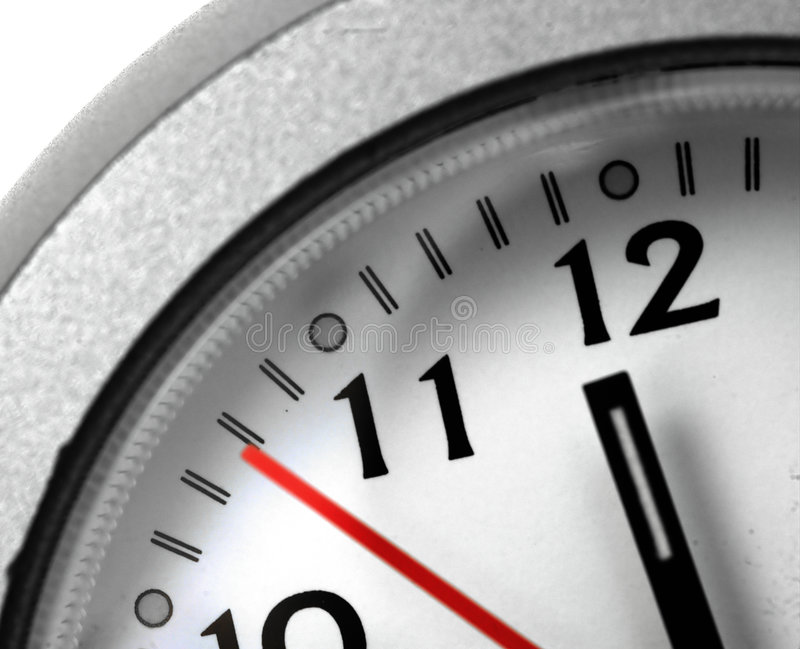 Time. Macro of a clock face royalty free stock photo
