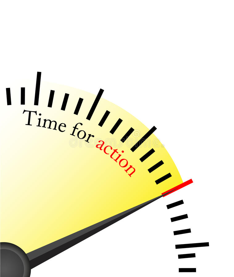 Time For Action - Clock Stock Image