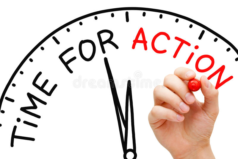 Time for Action stock image