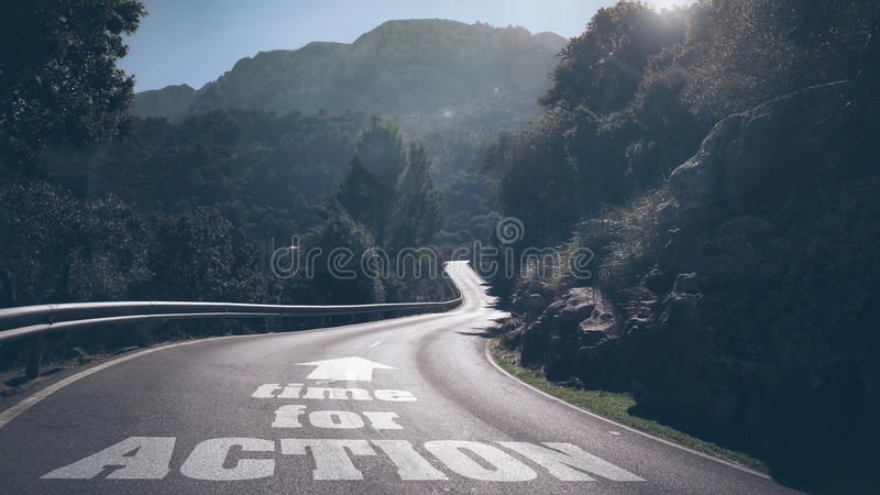 Time for action royalty free stock image