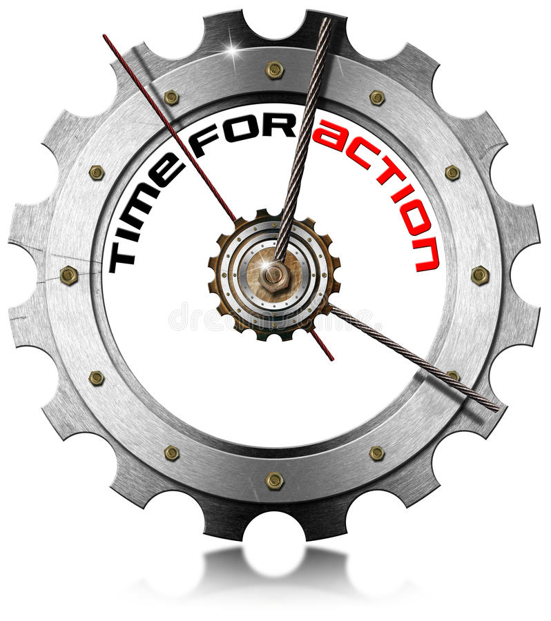 Time for Action - Metallic Gear stock illustration