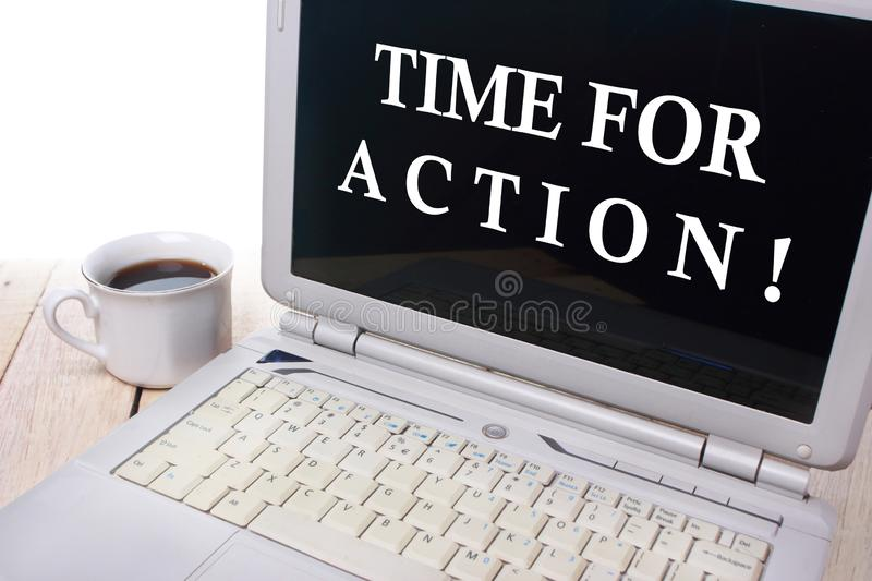 Time For Action, Motivational Words Quotes Concept stock photography