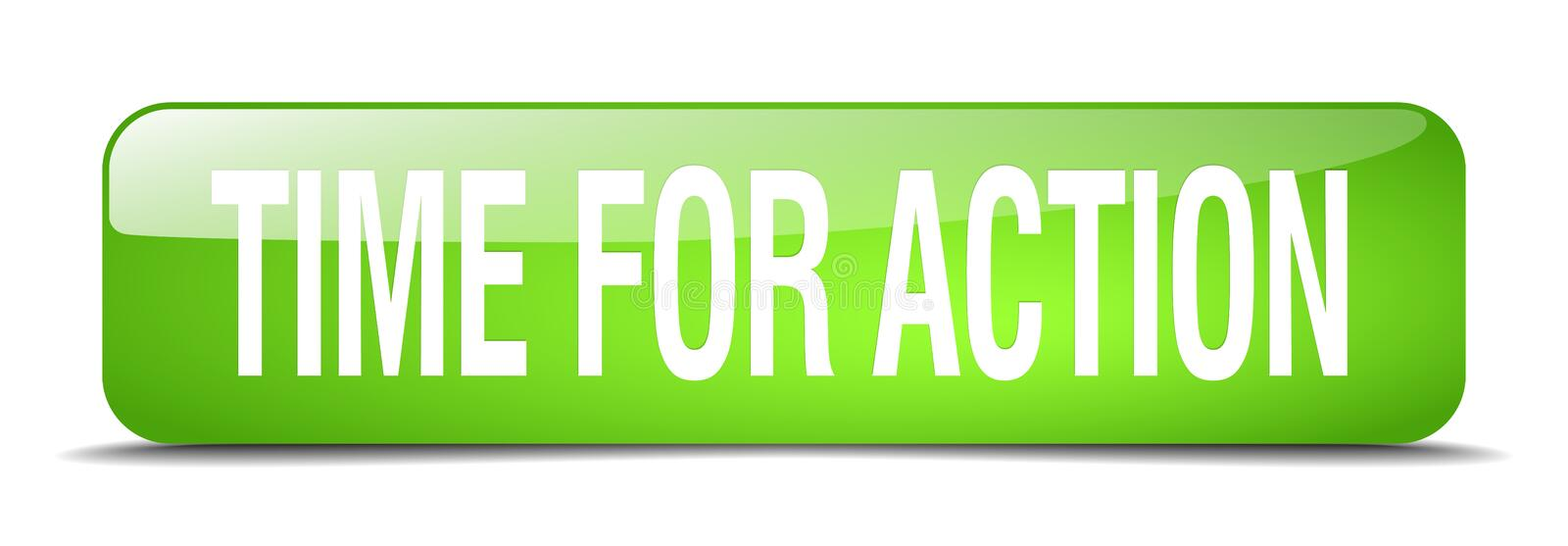 time for action button vector illustration