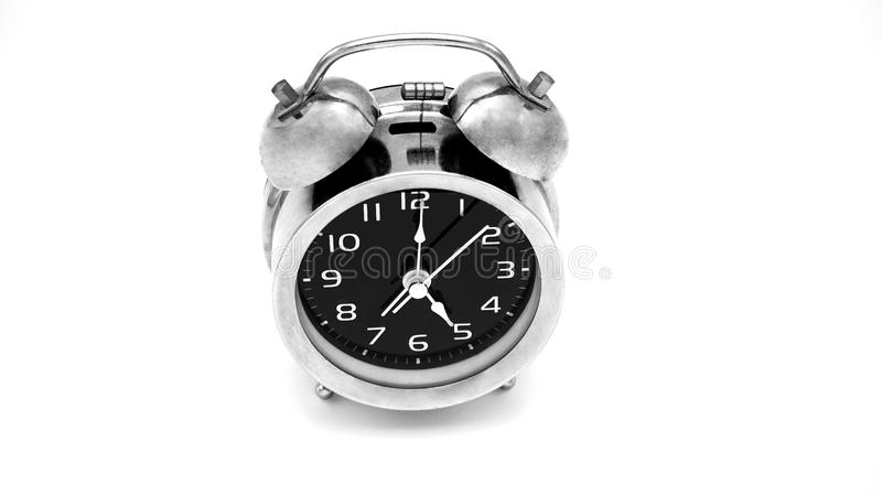 The time allarm clock in Black and white royalty free stock images