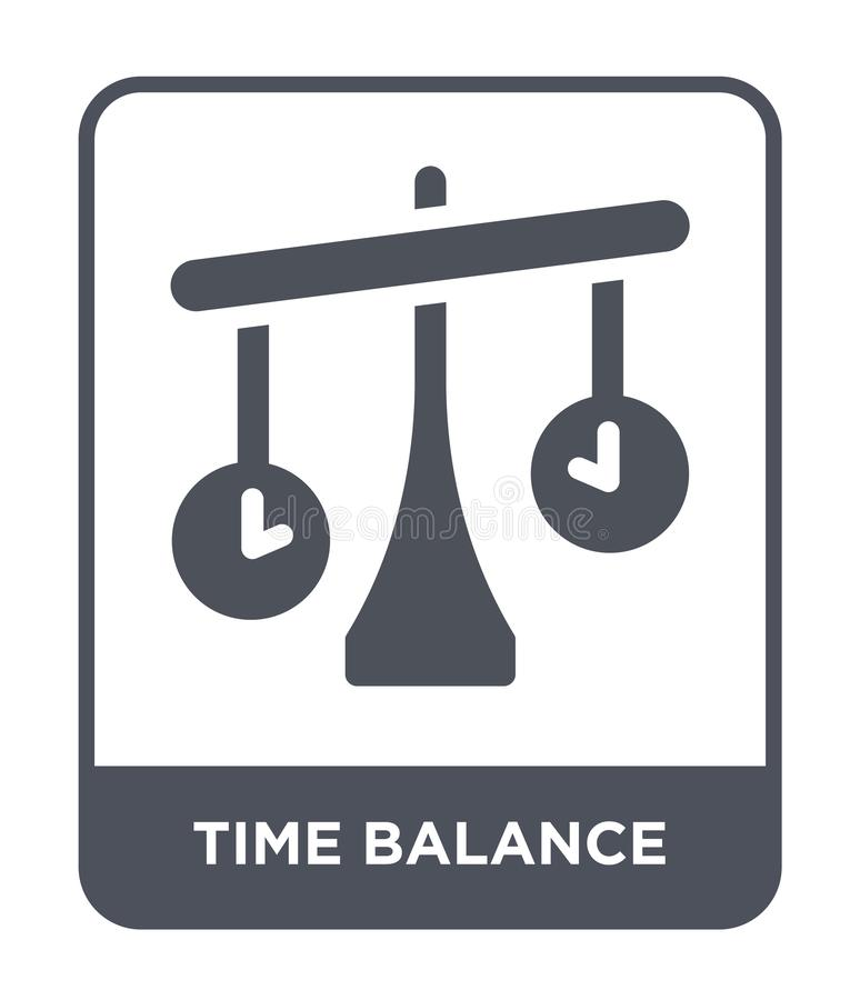 time balance icon in trendy design style. time balance icon isolated on white background. time balance vector icon simple and vector illustration