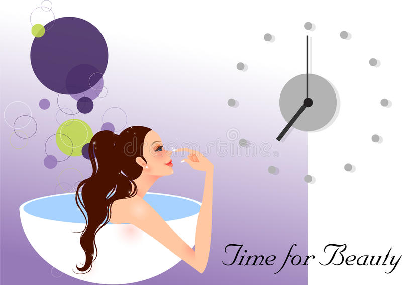 Download Time for beauty stock vector. Illustration of backgrounds - 18060775