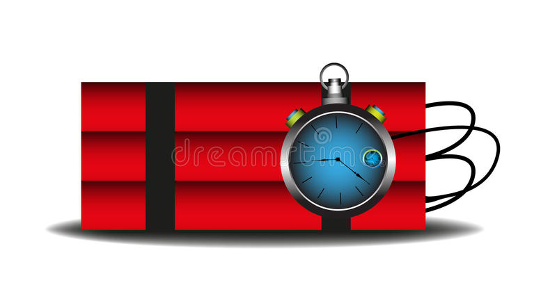 Download Time bomb stock vector. Illustration of bomb, boom, blue - 25271130