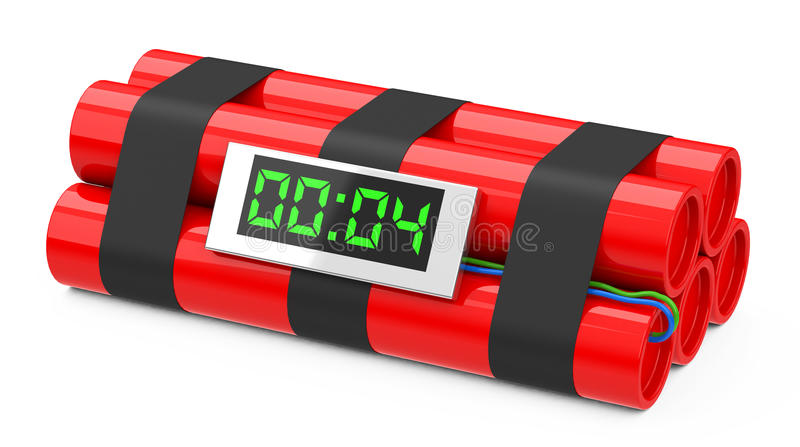 The time bomb. 3d generated picture of a time bomb royalty free illustration