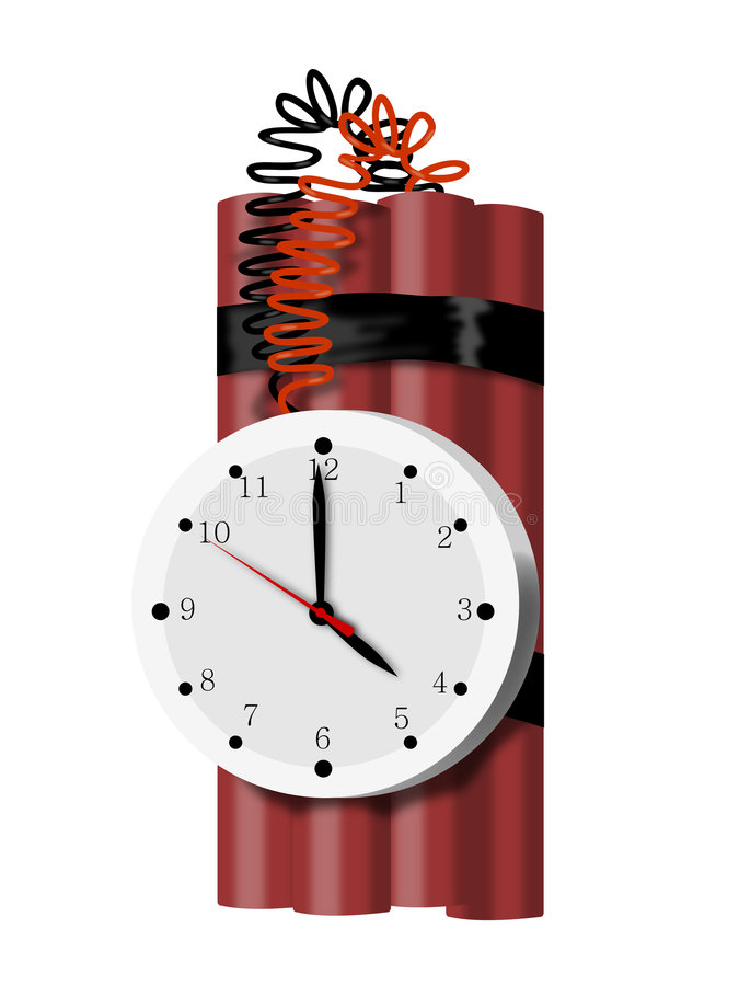 Download Time Bomb Isolated On White Stock Image - Image: 3715231