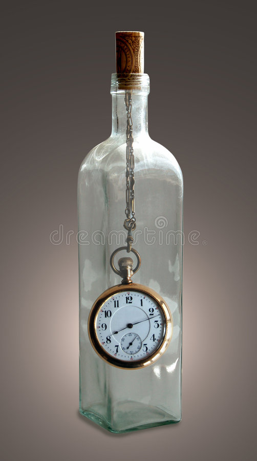 Time In a Bottle stock photography