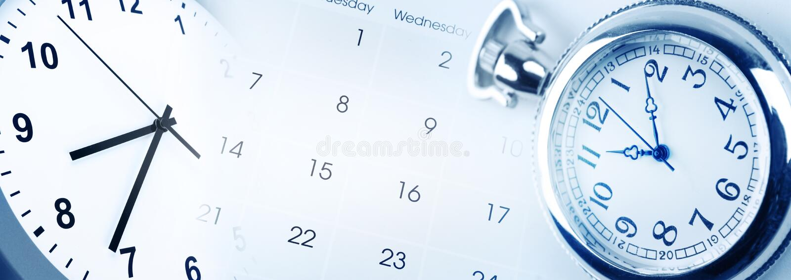 Time and calendar royalty free stock image