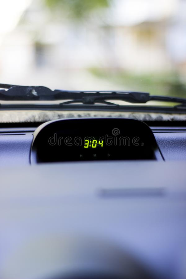 Time inside the car royalty free stock photos