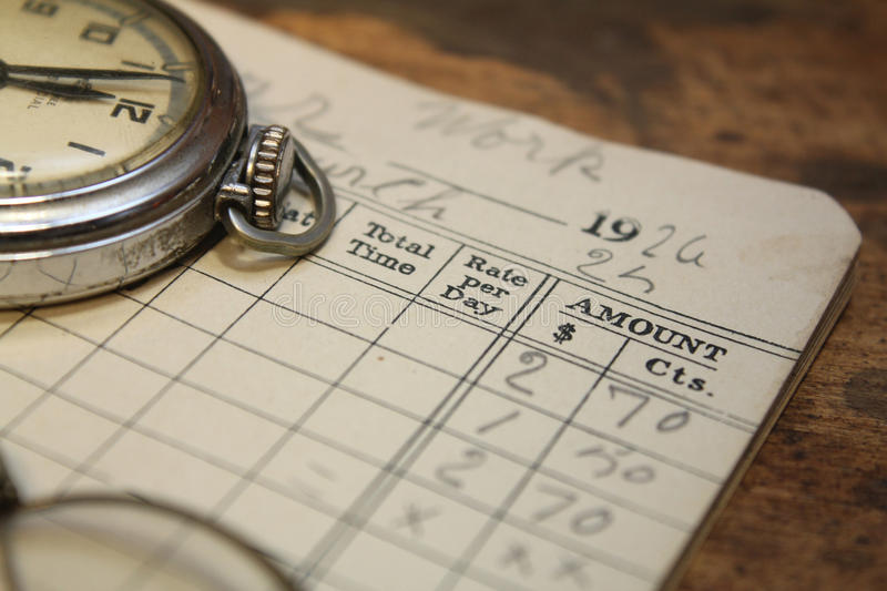 Time card stock images