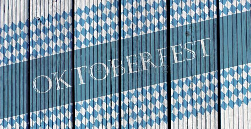 Oktoberfest design over wooden background. Design for the famous, traditional bavarian Oktoberfest. stock images