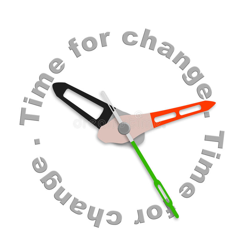 Time for change stock illustration
