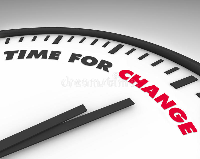 Time for Change - Clock royalty free stock image