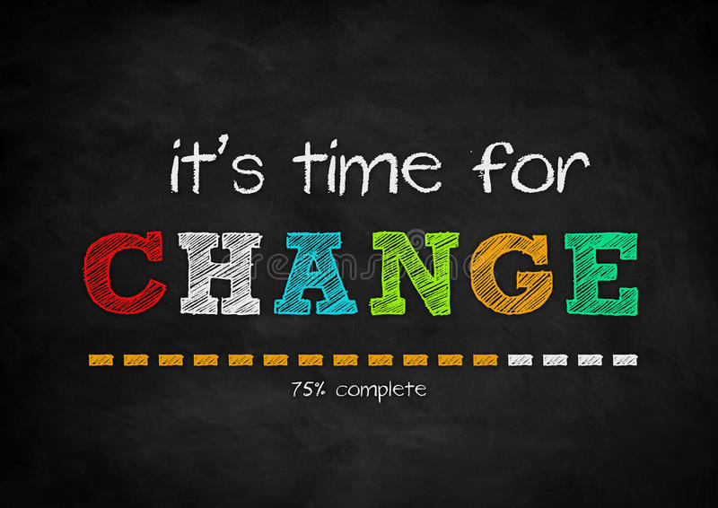 It is time for a CHANGE vector illustration
