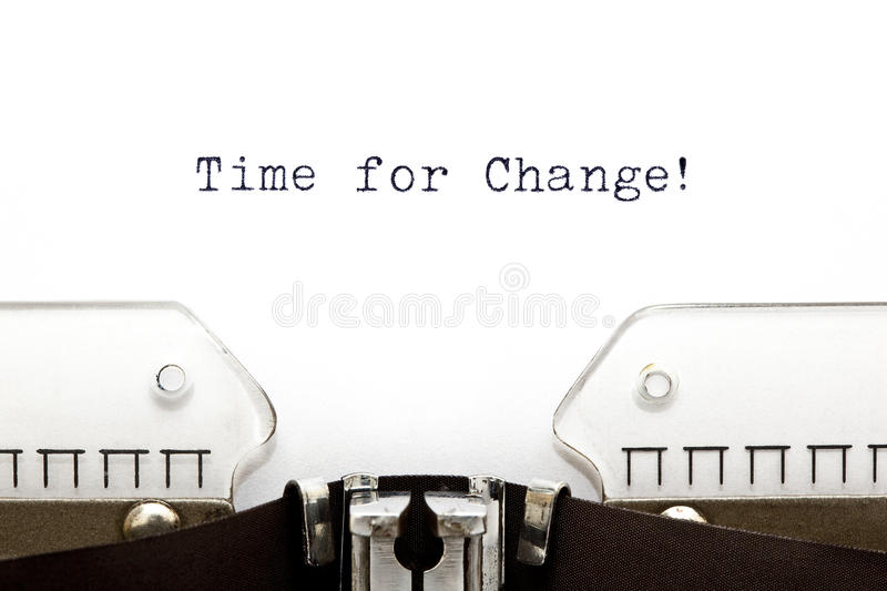 Typewriter Time For Change royalty free stock photography