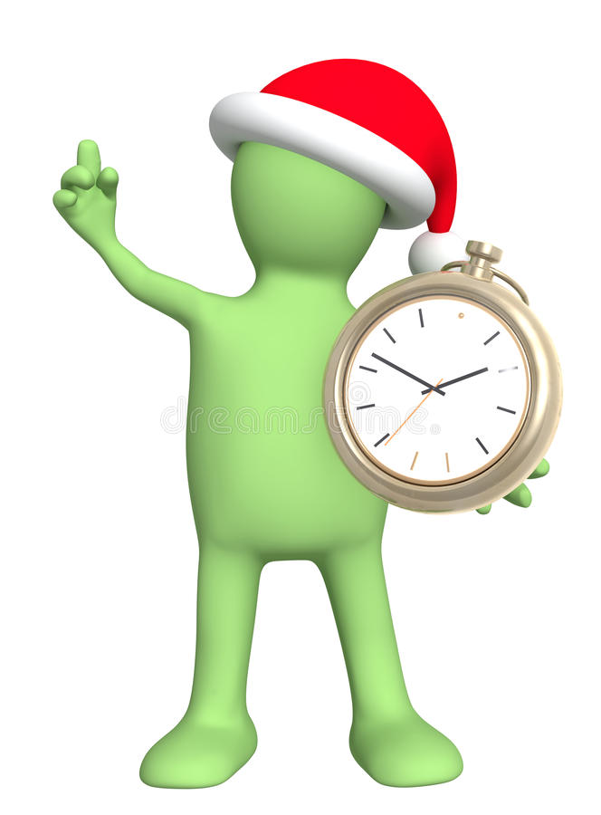 Time before Christmas vector illustration