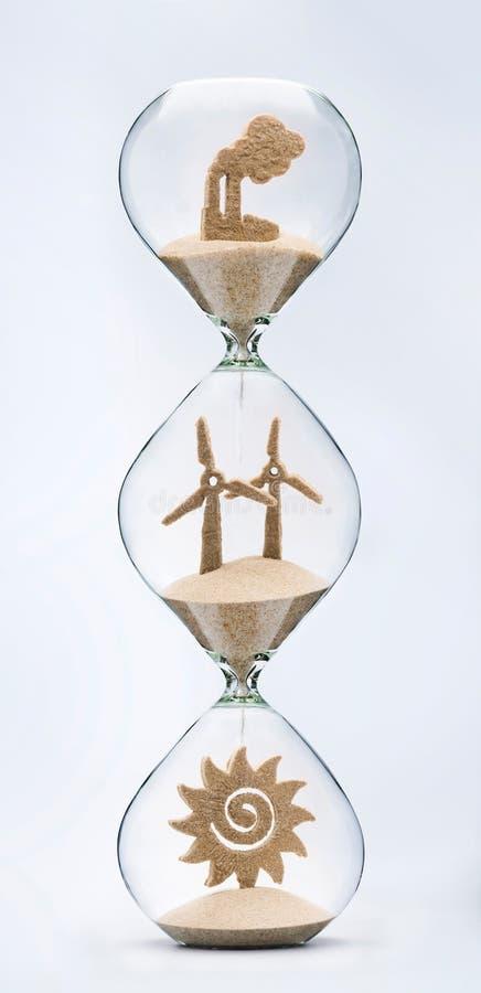 Evolution of clean energy concept stock photos