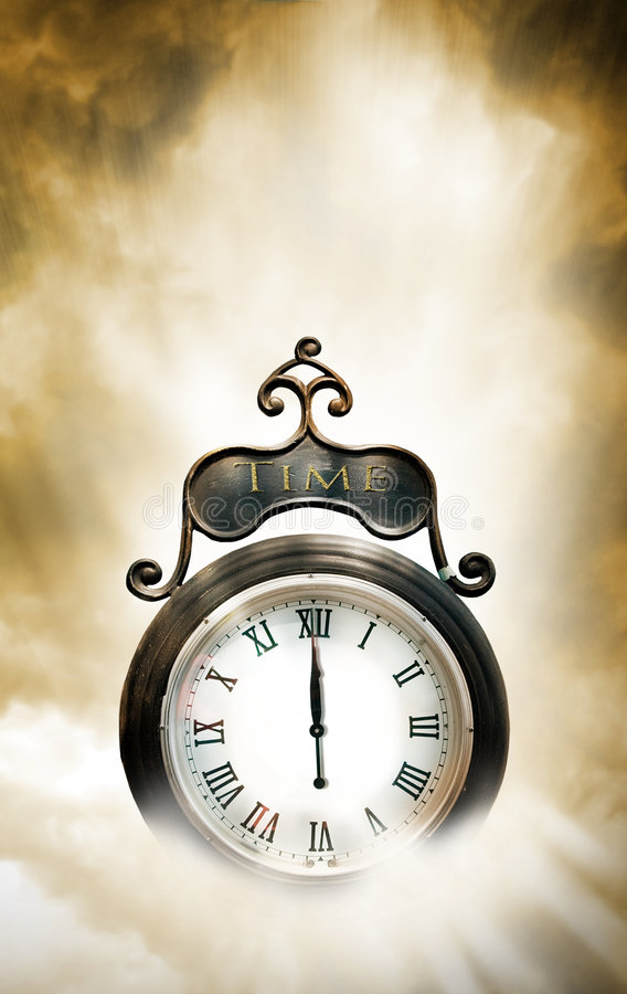Time clock stock image