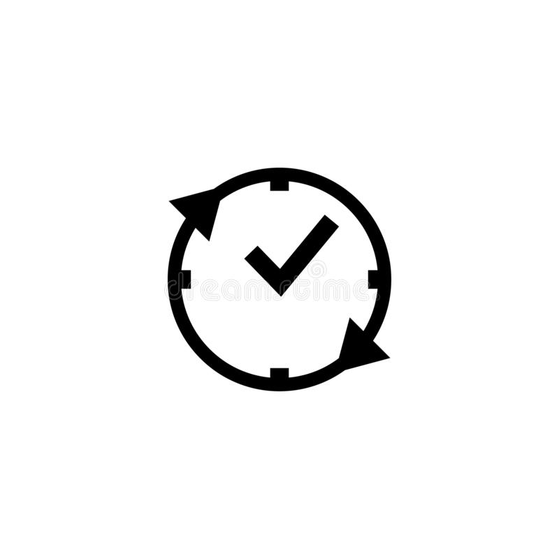 Time clock icon design template vector. Illustration symbol element business watch graphic circle timer hour alarm isolated stopwatch web digital set modern stock illustration