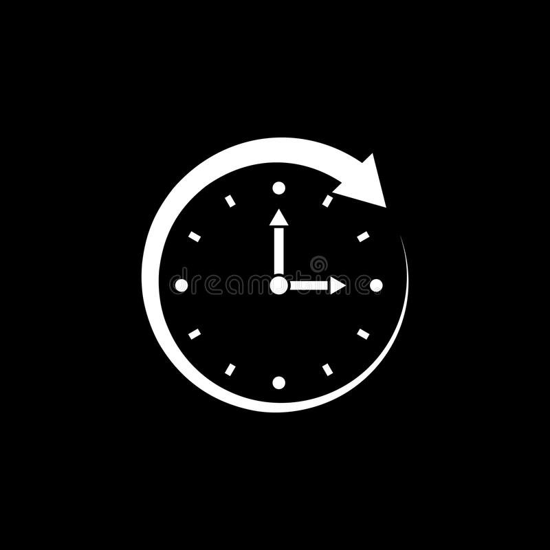 Time, clock icon. Time and watch, timer, clock symbol. UI. Web. Logo. Sign. Flat design. App. Stock vector illustration