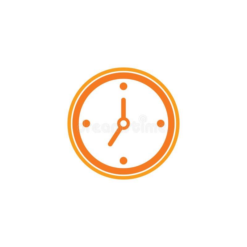 time clock logo design vector illustration