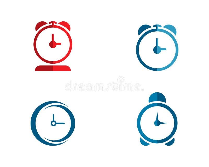 Time clock logo. Design template stock illustration