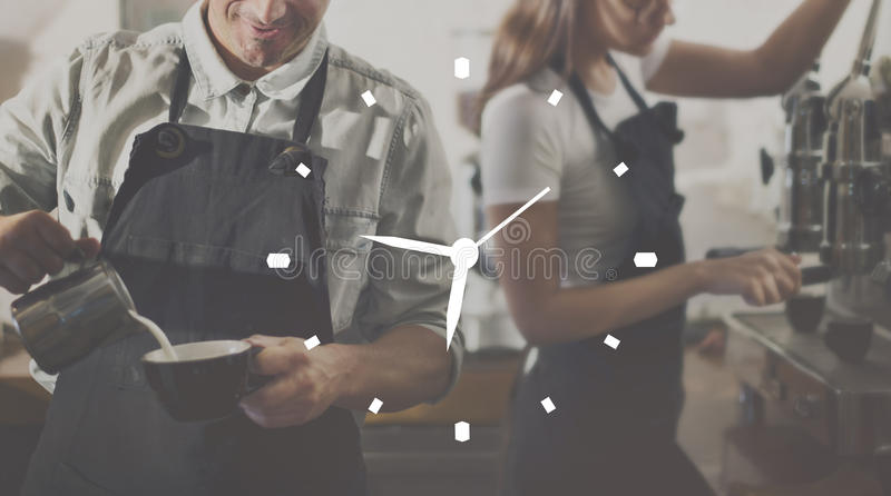 Time Clock Organization Management Accuracy Efficiency Concept stock photo