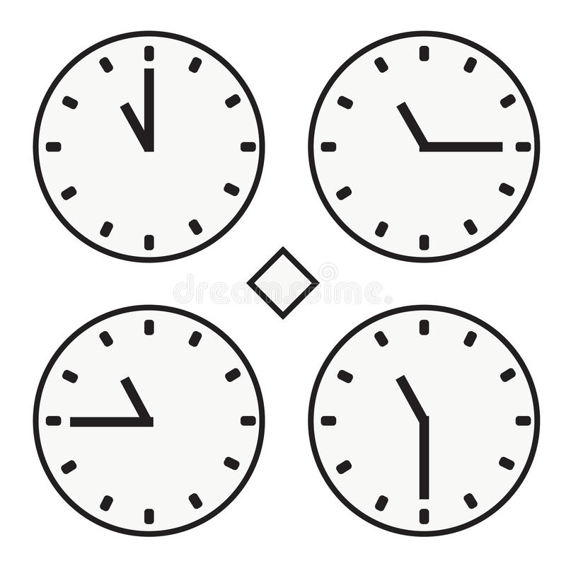 Time clock round watch hour eleven quoter half icon simple vector. Time clock round watch hour icon simple vector illustration