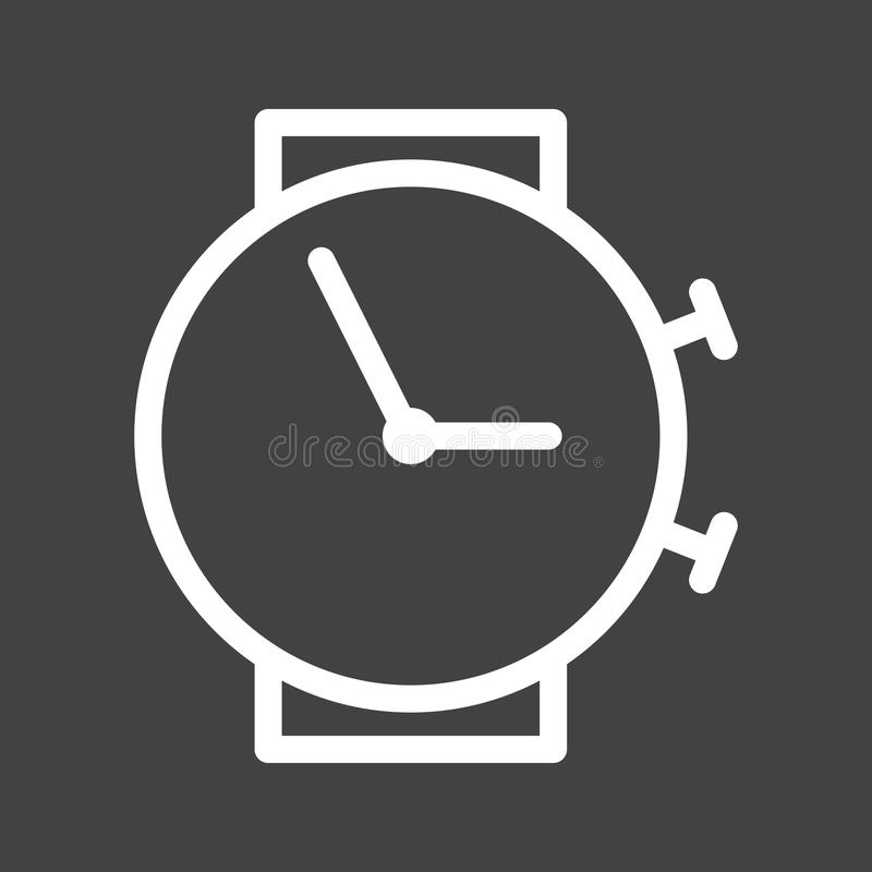 Time. Clock, travel icon vector image. Can also be used for travel. Suitable for use on mobile apps, web apps and print media stock illustration