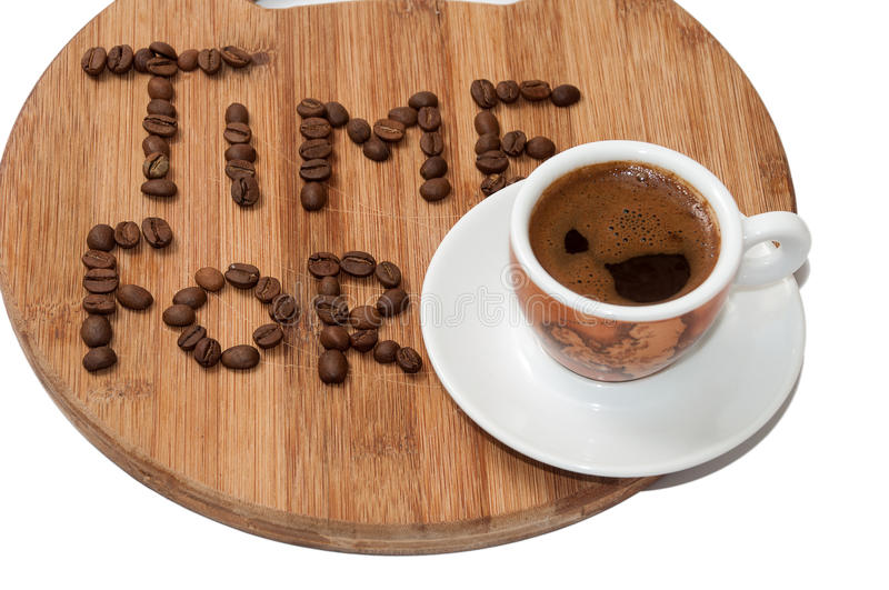 Time for coffee concept image.  stock images