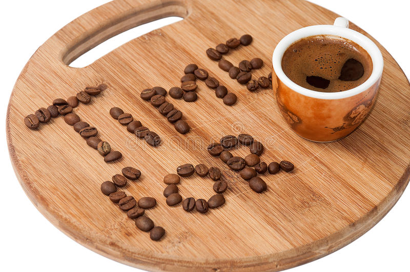 Time for coffee concept image.  royalty free stock image