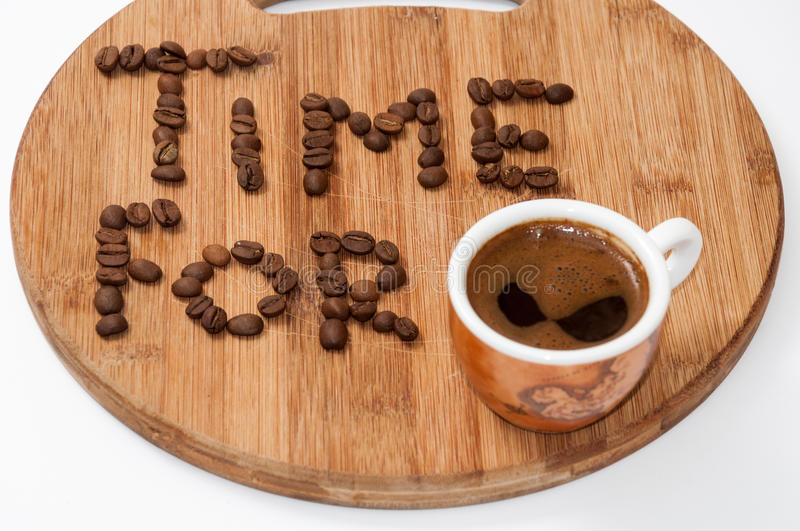Time for coffee concept image.  royalty free stock images