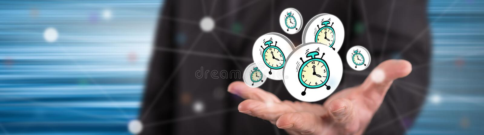 Concept of time royalty free stock photos