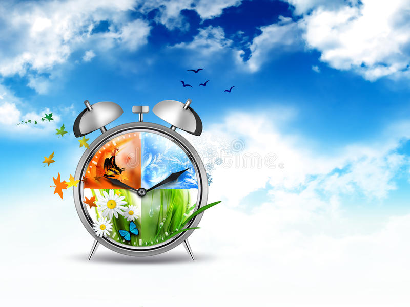 Time concept image vector illustration