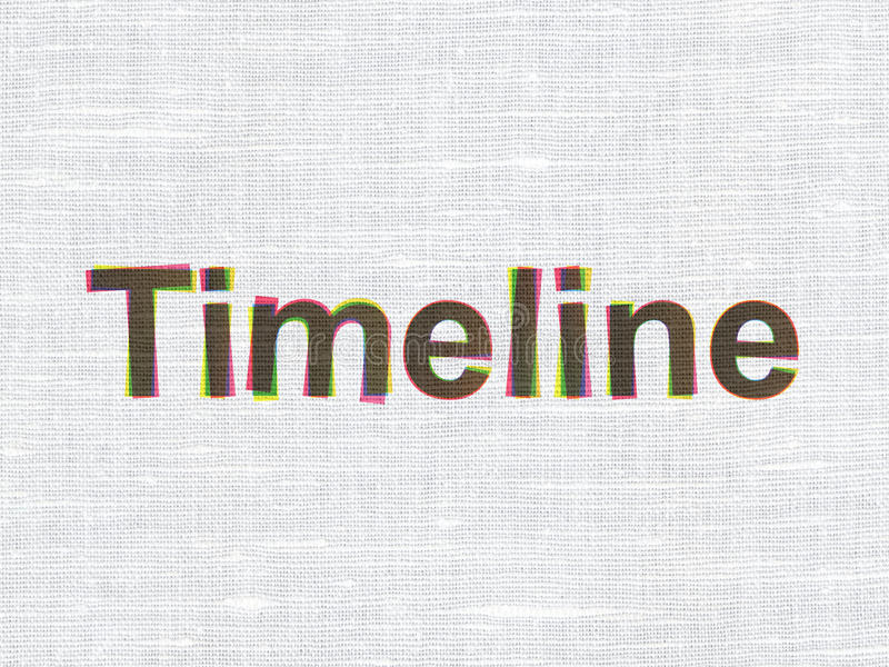 Time concept: Timeline on fabric texture royalty free illustration