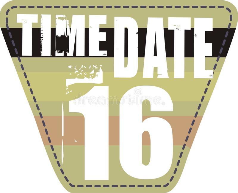 Download Time Date Patch Royalty Free Stock Image - Image: 14960716