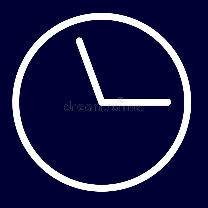 Time or deadline icon of set white outlines royalty free illustration