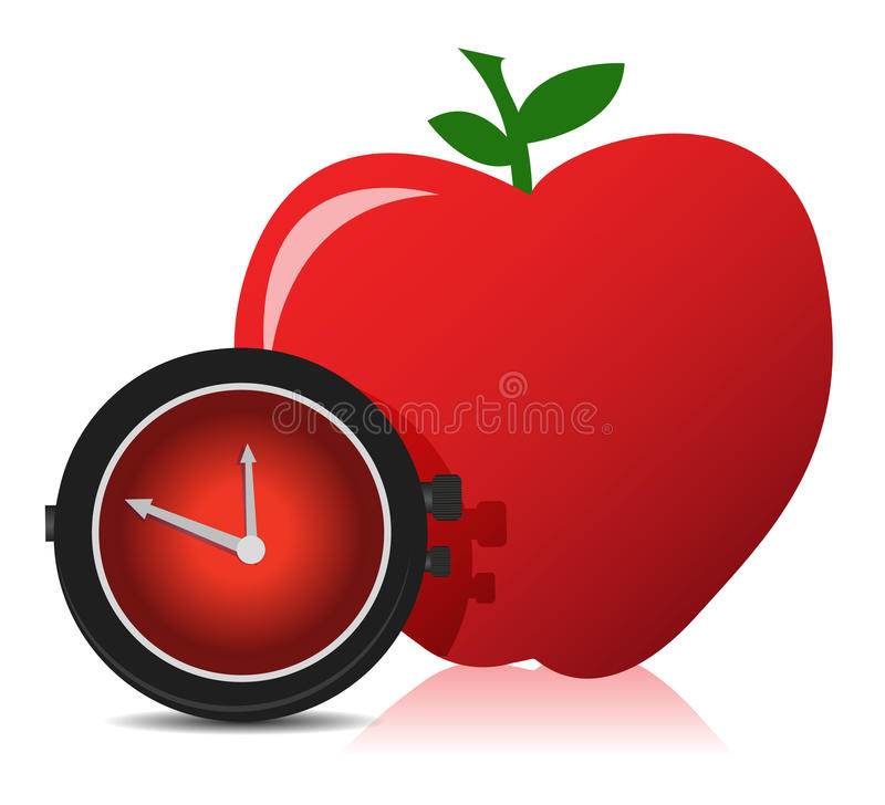 Download Time for a diet stock illustration. Illustration of ingredient - 27946598