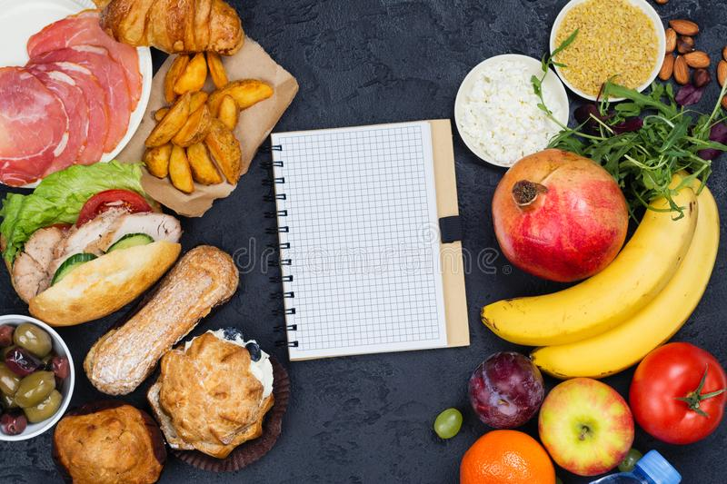Time for diet. 5:2 fasting diet concept royalty free stock photos