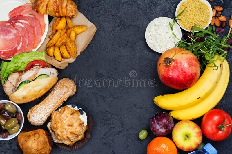 Time for diet. 5:2 fasting diet concept royalty free stock image
