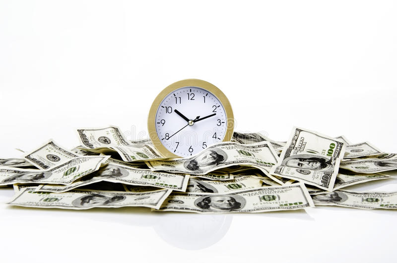 Download Time and dollars stock image. Image of dollar, wealth - 23847353