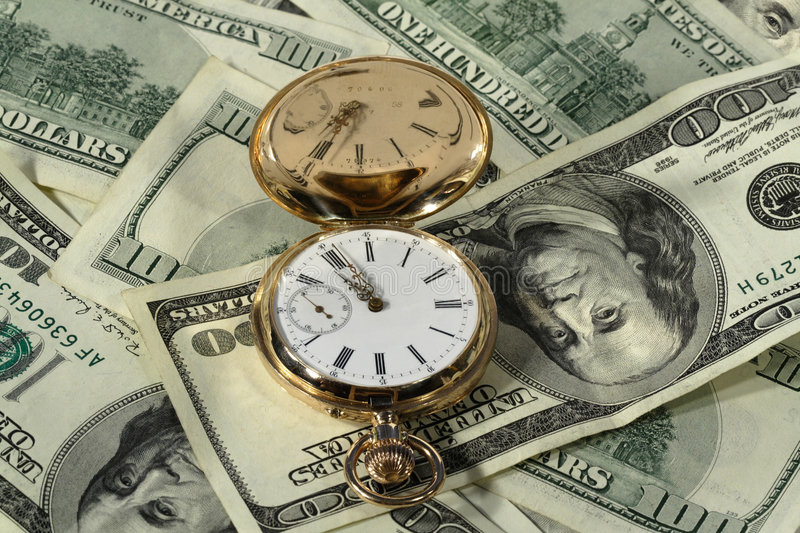 Download Time dollars stock image. Image of hundred, investments - 4666495