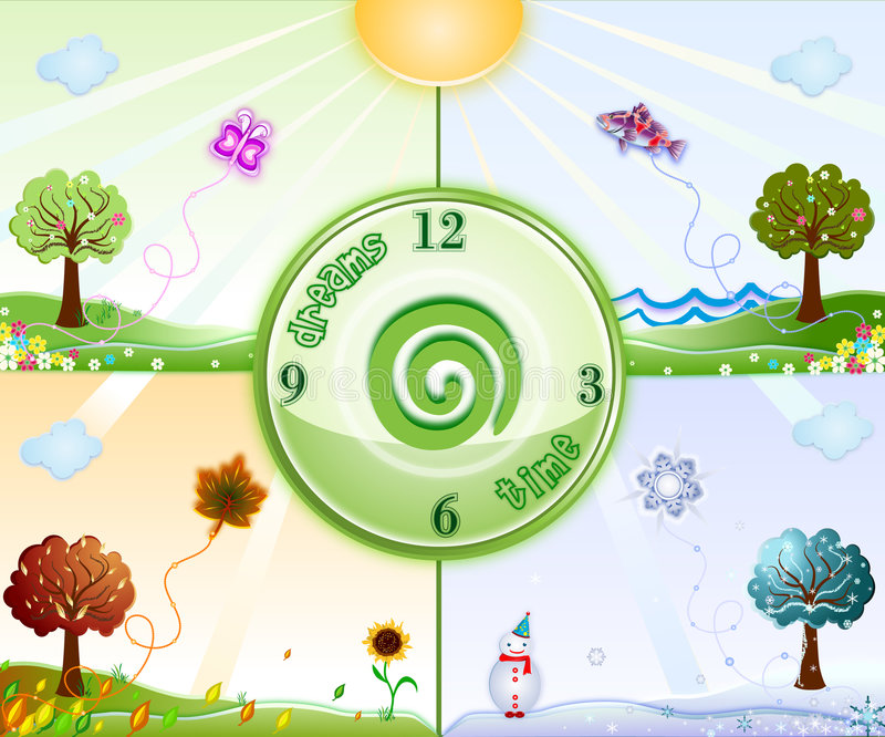 Download Time For Dreams Is All Year Round Stock Illustration - Image: 7582907