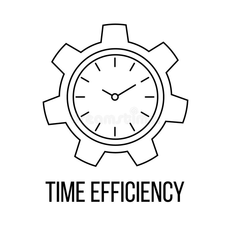 Time Efficiency Icon Or Logo Line Art Style. Stock Vector ...