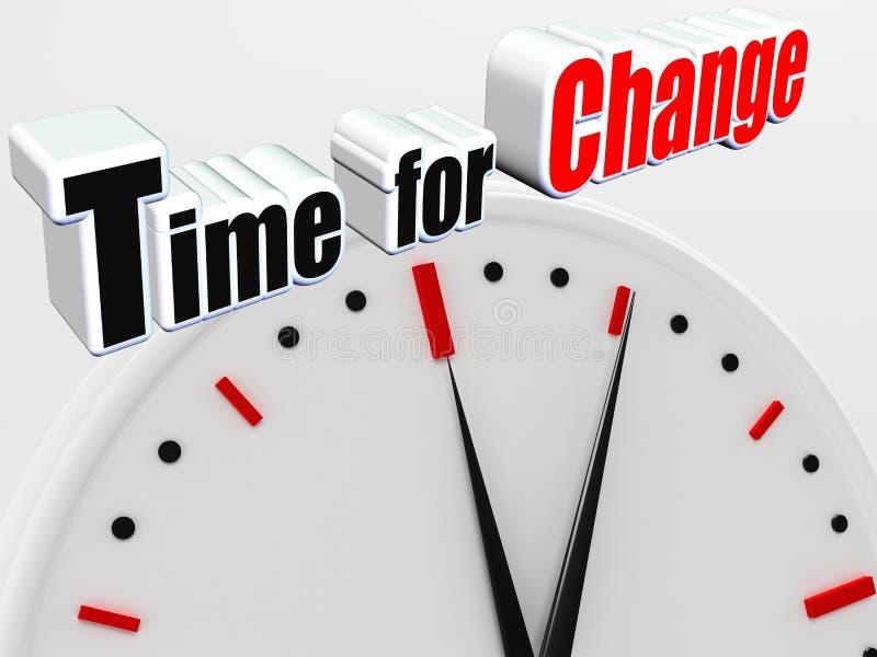 Time för ändring stock illustrationer