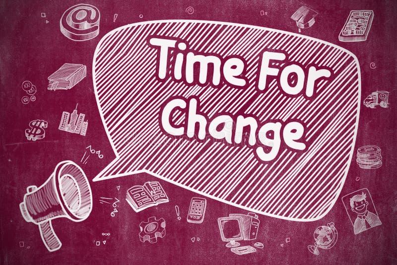 Download Time För ändring - Tecknad Filmillustration På Den Röda Svart Tavlan Stock Illustrationer - Illustration av bullhorn, tecknat: 78728107